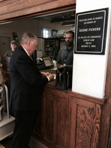TBP at Holdenville Post Office named for him